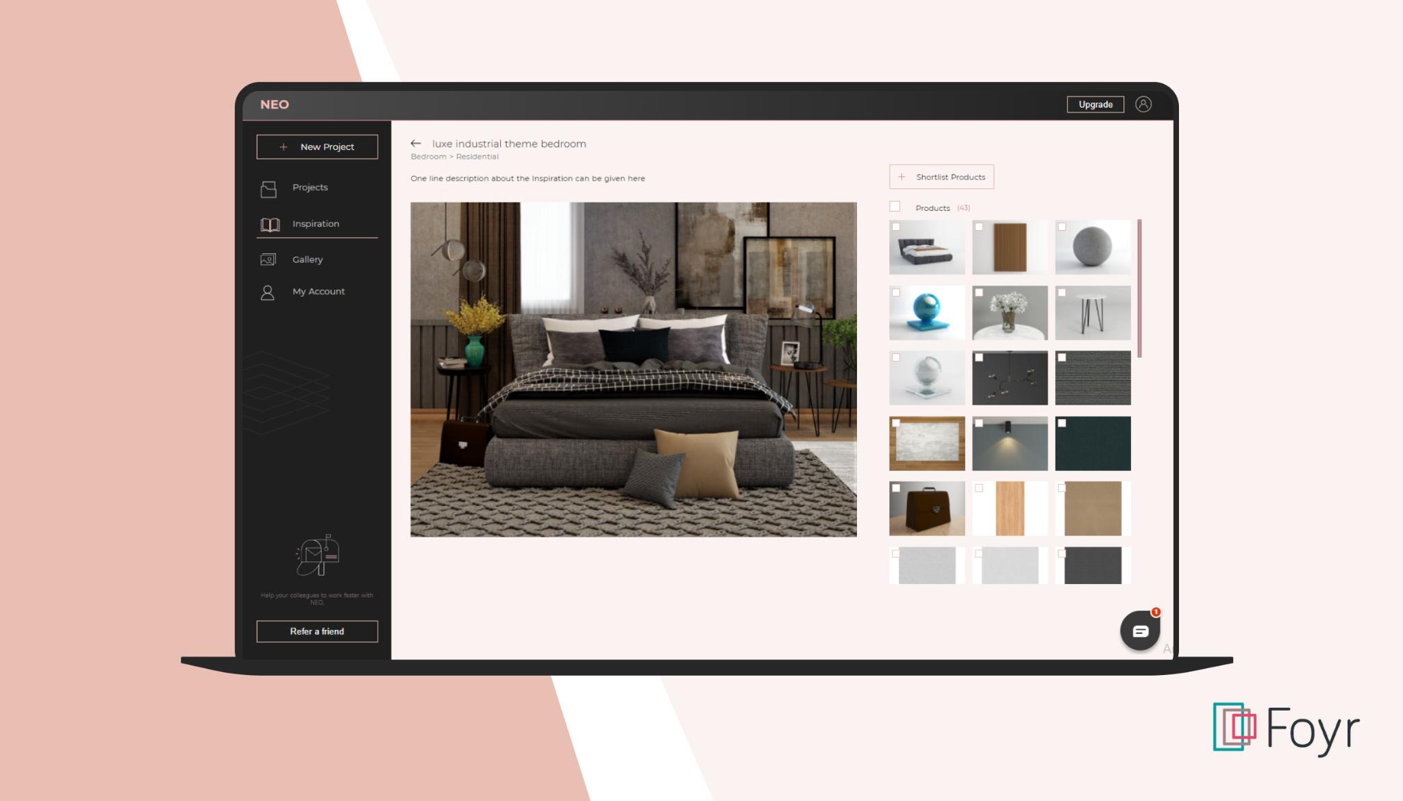 create modern office design in Foyr Neo