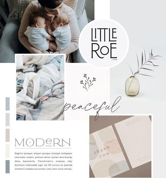 create mood boards with human element