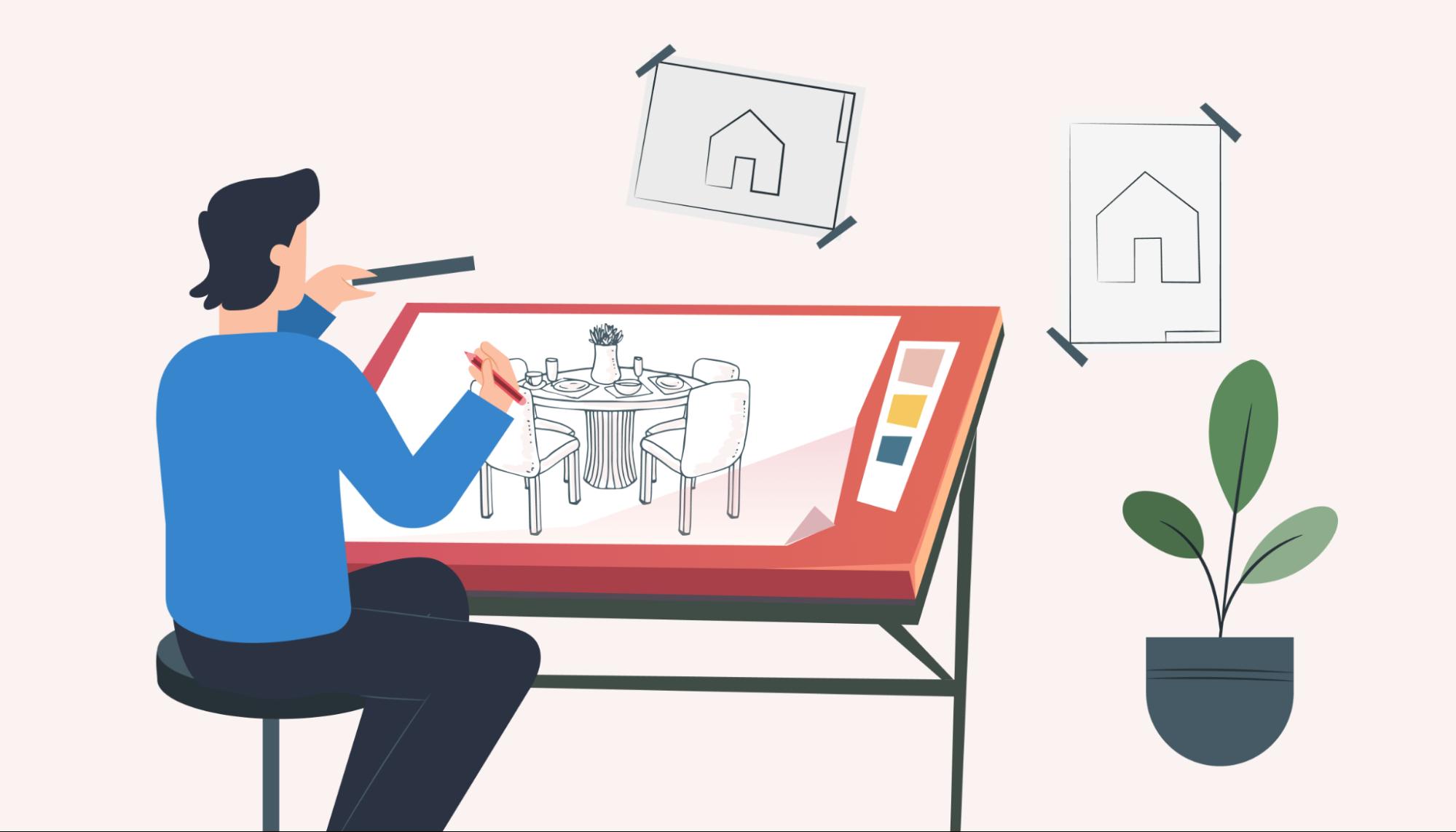 interior design construction drawing