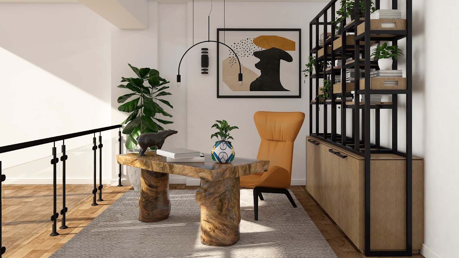 modern home office design example from foyr neo