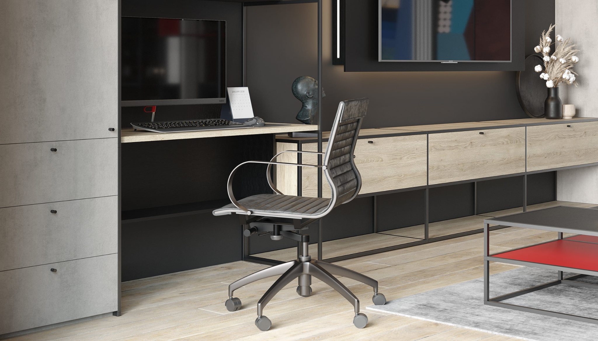 modern home office design for small space
