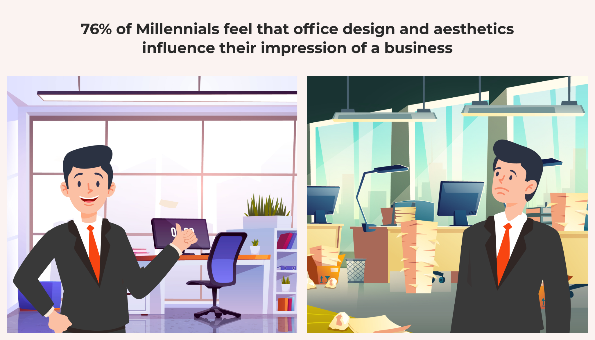 modern office influence impressions