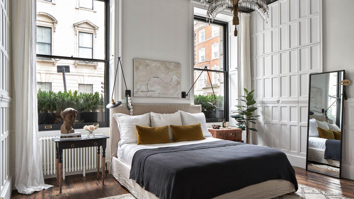rustic bedroom design with nature elegance