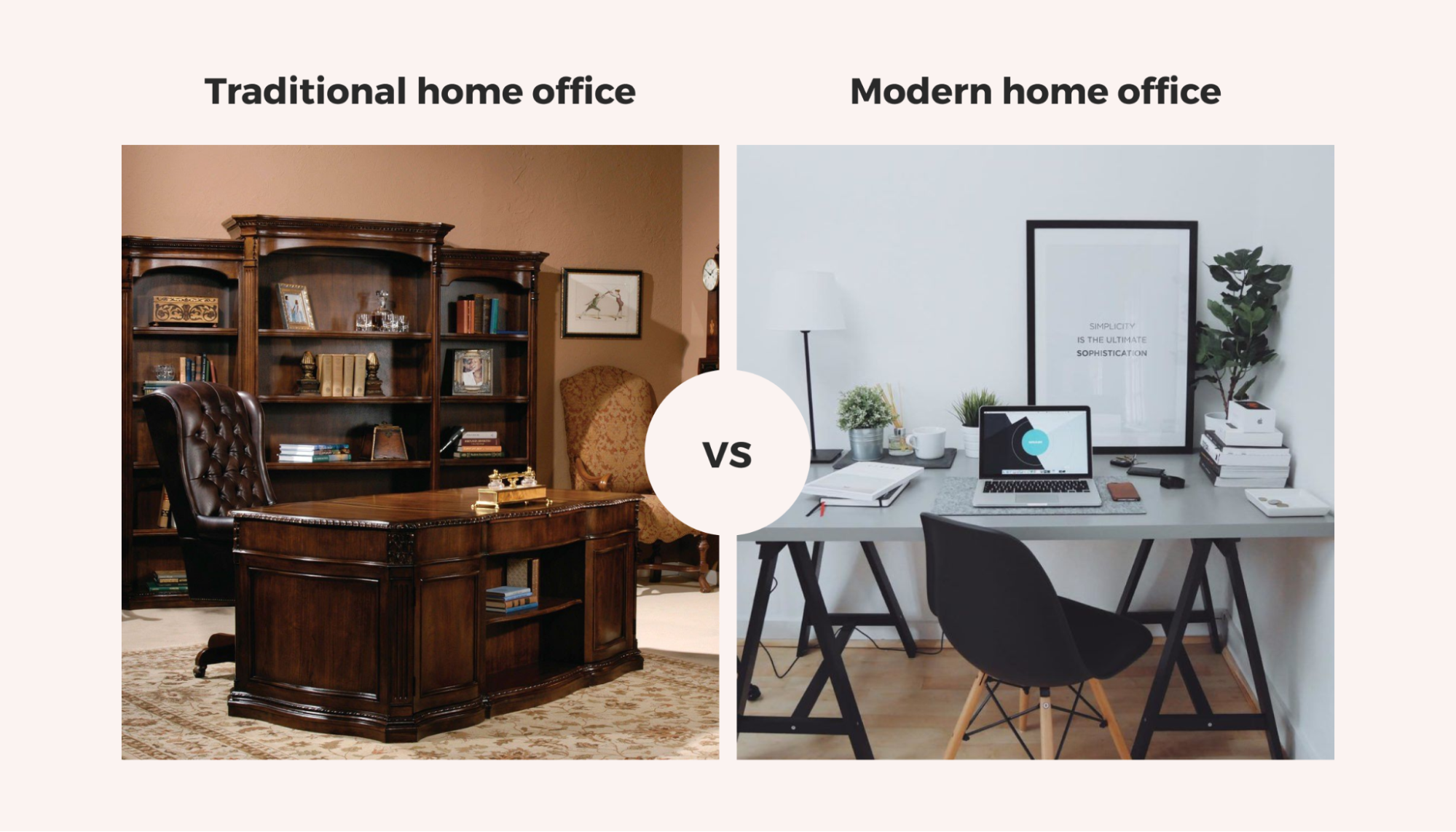 traditional vs modern home office