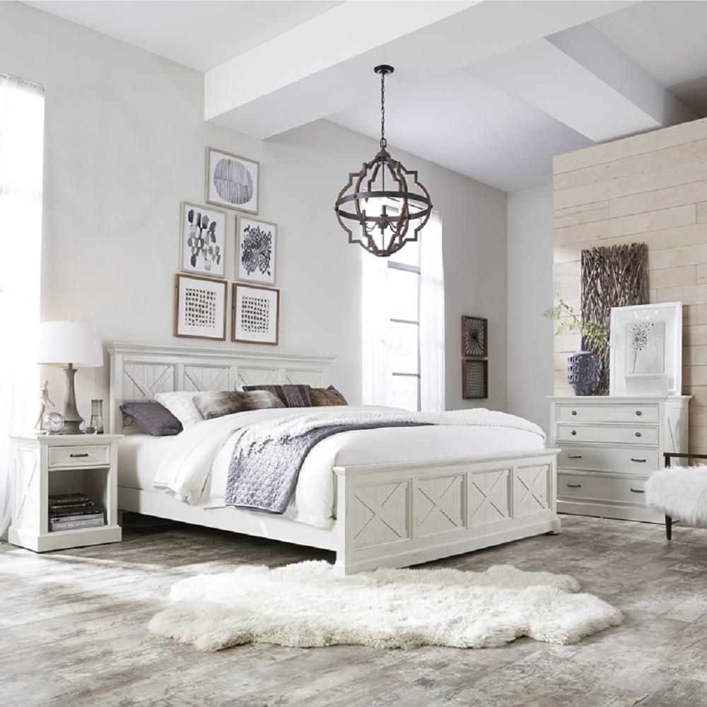 white rustic bedroom design