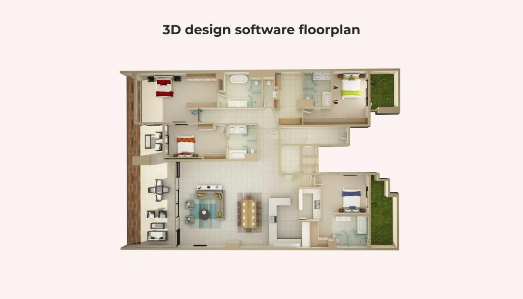 3d design software floor plan