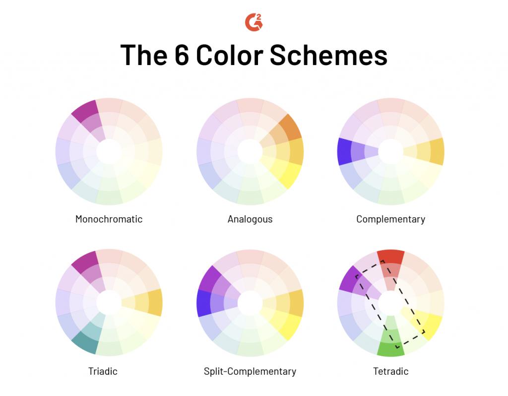 6 color schemes