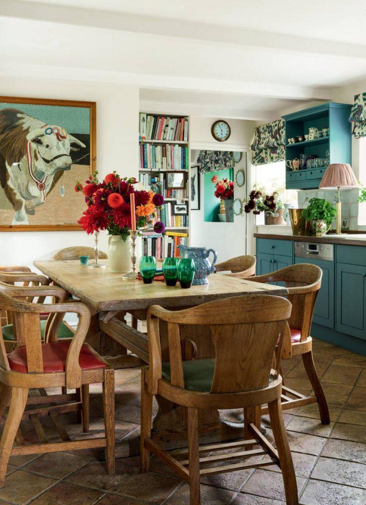 Cottagecore interior design - materials