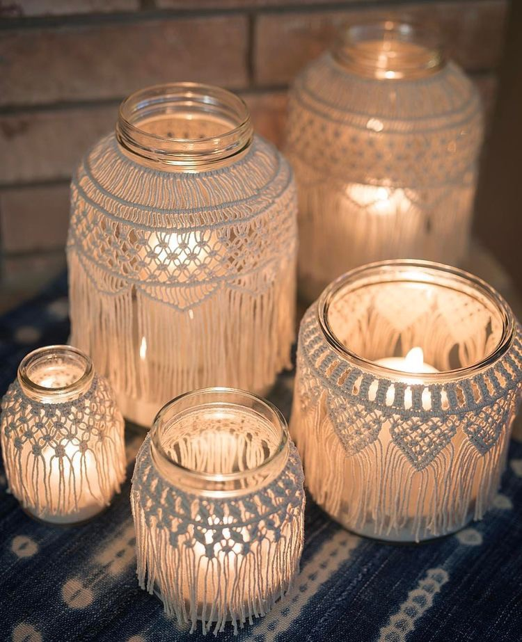 cottage design with candles