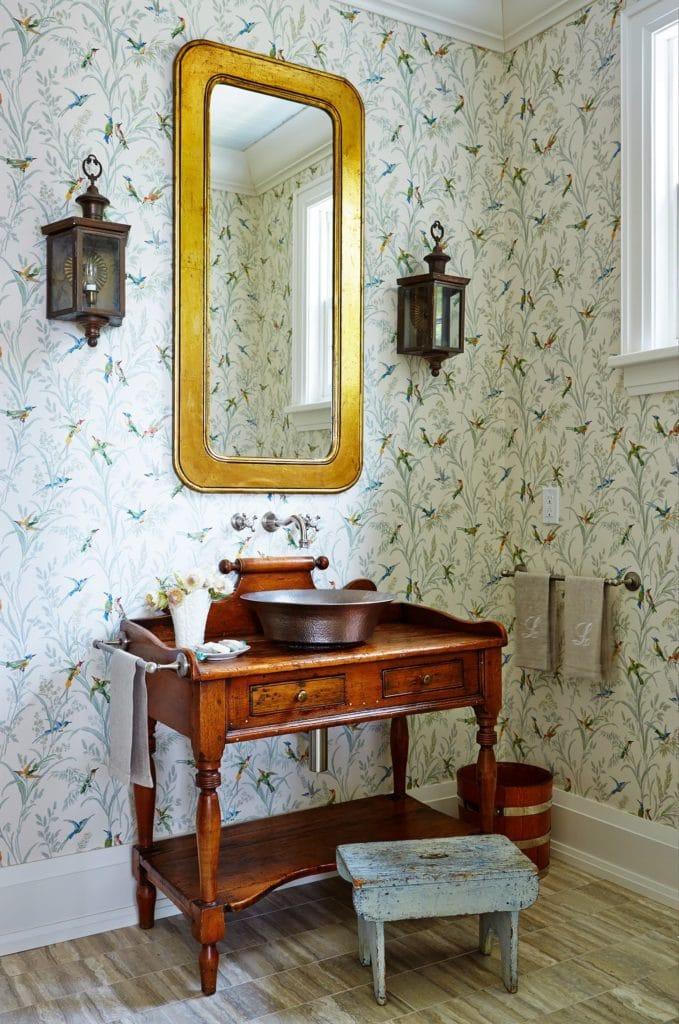 cottagecore interior design for bathroom