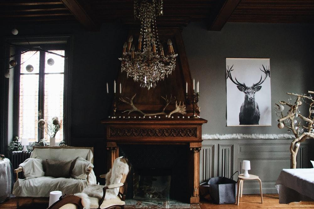 cottagecore interior design - fireplace