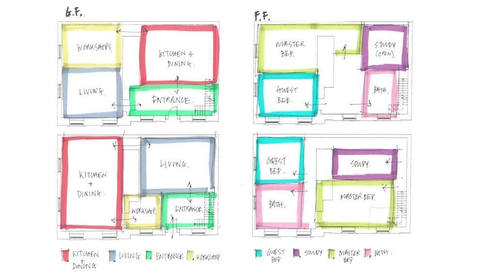design sketches for interior design presentation