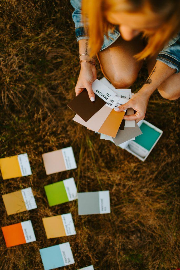 pantone shade book - tool for interior designer