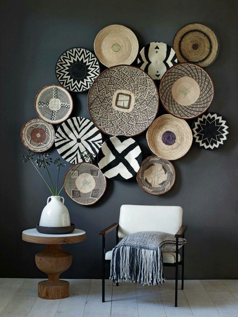 woven baskets wall decor