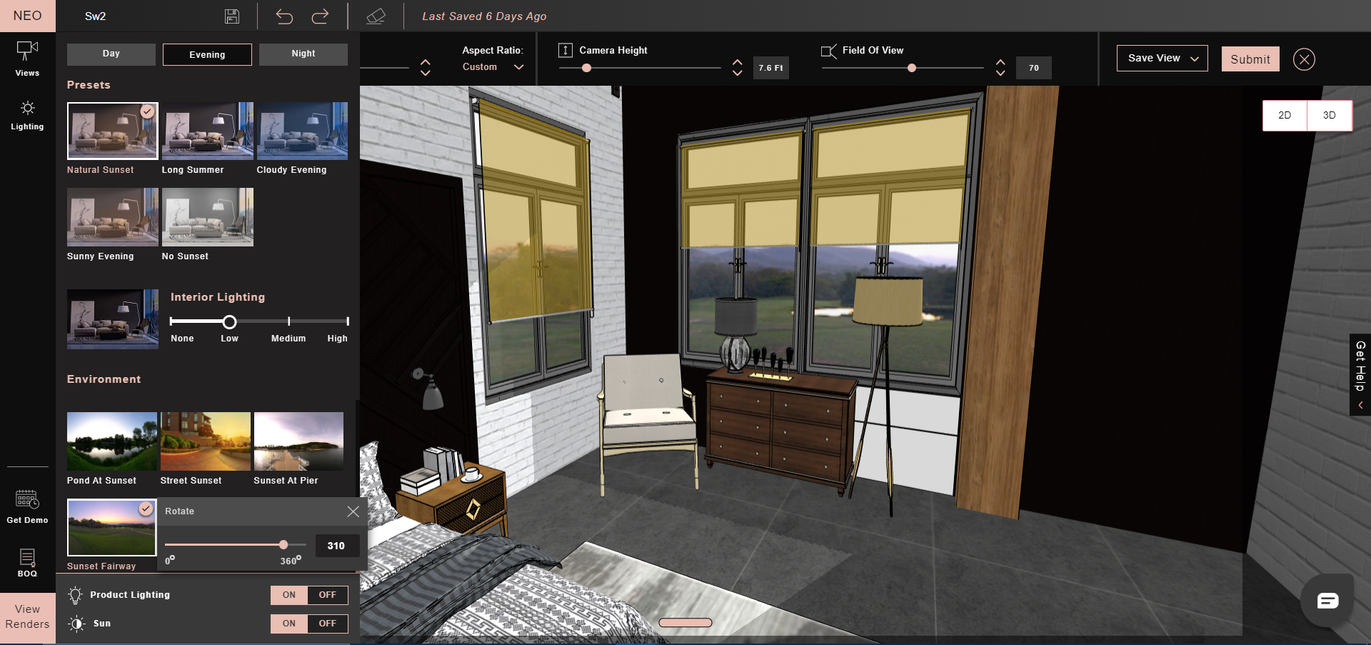 Simple Auto Lighting controls – get the perfect lighting for your render with a few clicks